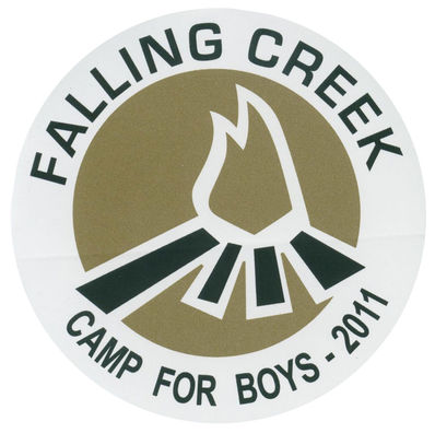 Image of the Falling Creek limited edition camp trunk sticker.