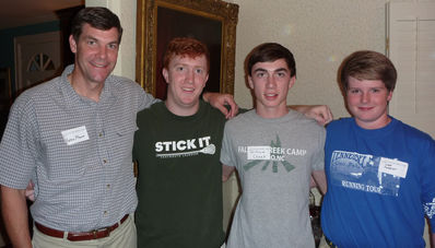 (L to R) Yates, Jamie, William and Gage at the Falling Creek Camp Reunion and Movie Show at the Cheek's in Nashville, TN on 10-24-10
