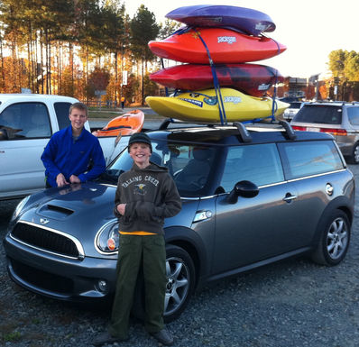 Matt and Ben show off their Boat tie down skills on their trip to the US Whitewater Center on 11-14-10