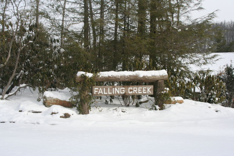 Falling Creek Camp Sign