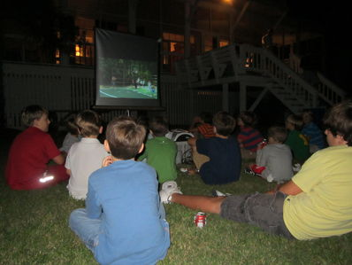 What A Perfect Evening To Watch The Falling Creek Camp Movies Outside On The Beach