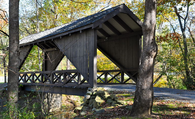 Falling Creek Camp Covered Bridge Over The Green River Rd on Oct. 17, 2011
