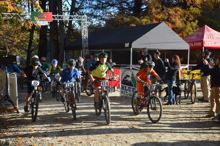 Carolina Youth Mountain Bike League 11/12 Yr. Old Race Start