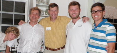 (L to R) Tommy Skelly, Tim Skelly, Yates, Paul Raymond and Dylan Loebig