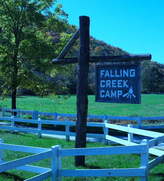 Falling Creek Camp Entrance at Green River Road