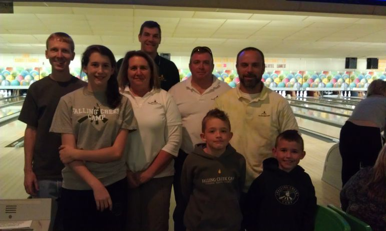 Falling Creek Camp Bowling Team at the annual Hendersonville Chamber Gutterball Classic