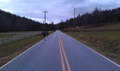 Frank and Crom completing their 'Fit-In' on Green River Rd. - December, 2012