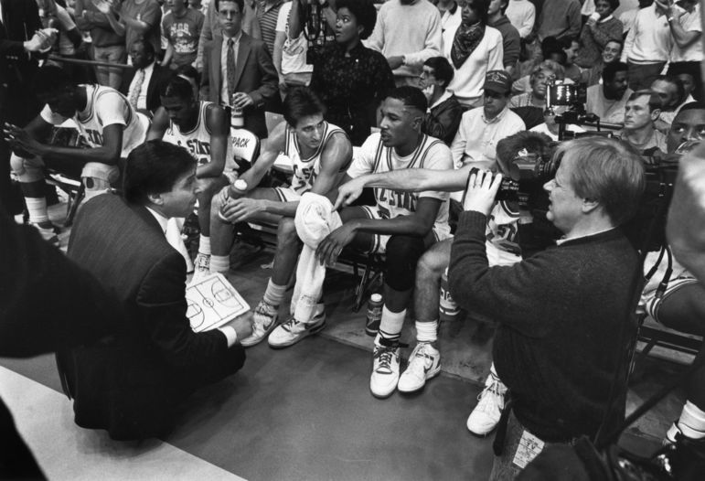During an NCSU game timeout in 1988