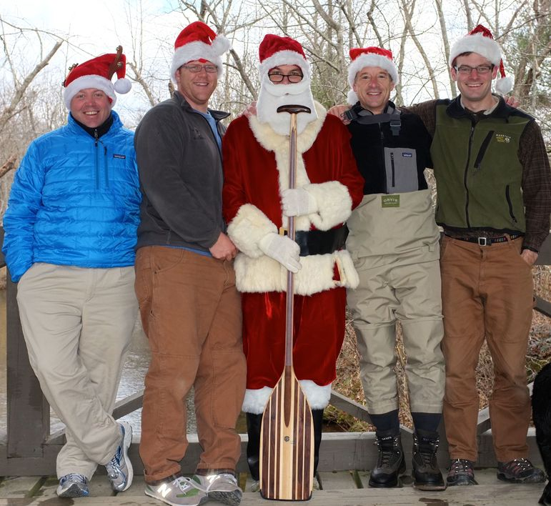 Santa took a short break to say hello to the Falling Creek Camp Elves who all were told they are on the 'Nice' List