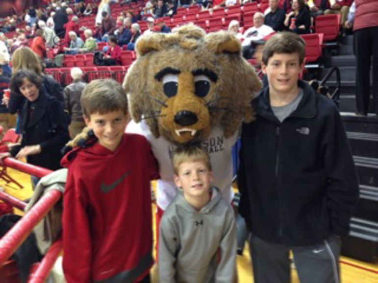 Will, Brad, & Ned Hull at a recent Davidson College Basketball Game