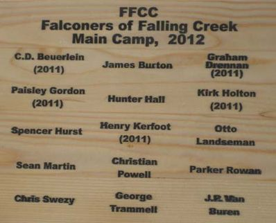 Falconer's of Falling Creek Camp Main 2012