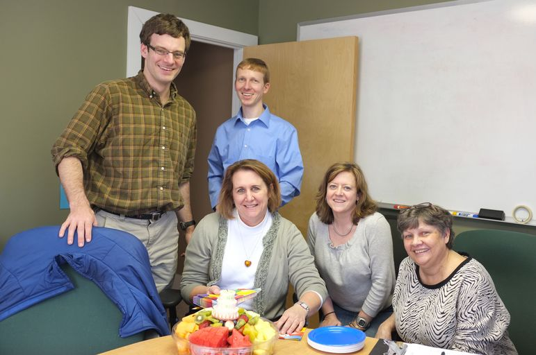 The FCC Crew celebrated Paige Hafner's birthday on Friday 3-8-13