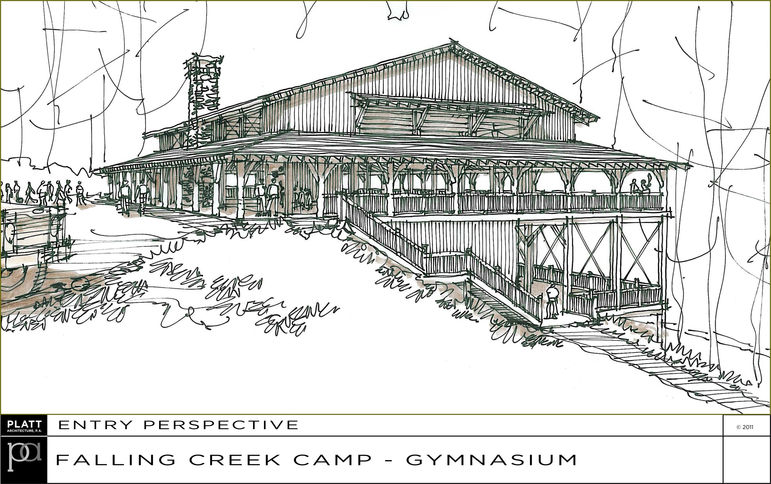 Falling Creek is building a new camp gymnasium.