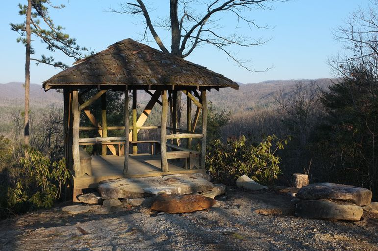 Hut At Falling Creek Camp Overlook