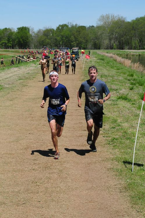 Frank Tindall showing the 'young bucks' how to 'get 'r done' at The Georgia Warrior Dash