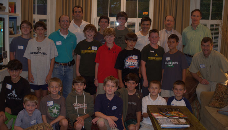 The dads who are FCC alumni and/or have attended father/son weekend joined the boys in the photo