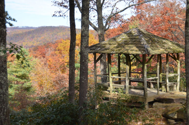 Copelands Hut at Falling Creek Camp's Overlook