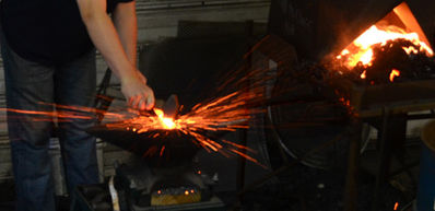 blacksmithing at FCC