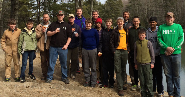 Boy Scout Troop 8 - Asheville, NC at Falling Creek Camp on February 8, 2014