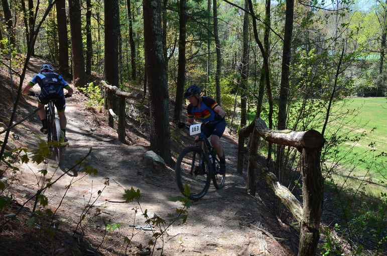 These guys make this uphill switchback on Toad's Turnpike trail look easy