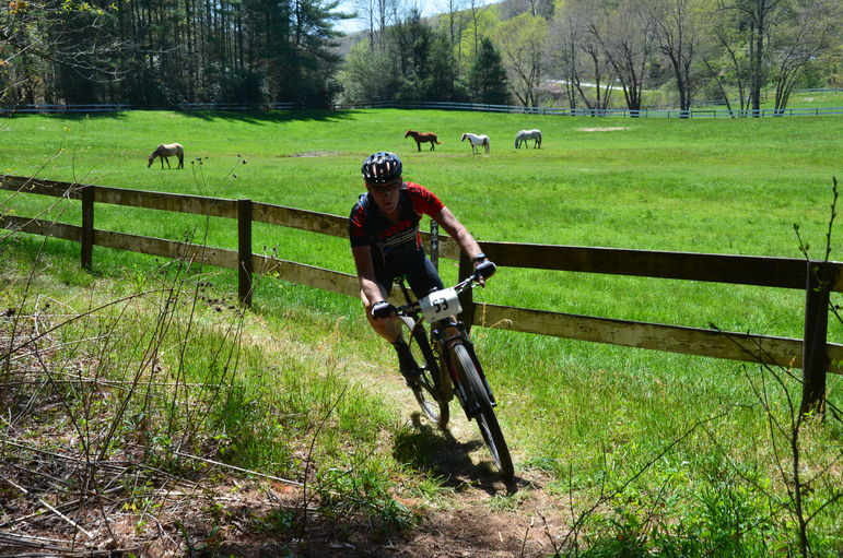At the bottom of the Ridgeline Trail, riders passed the Green River Pasture and the Falling Creek Camp Horses