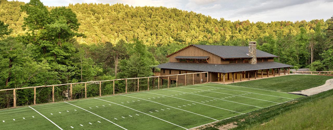 Sports field beside gym
