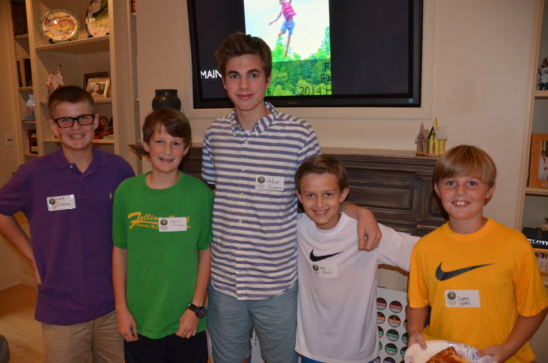 (l to r) Larry, Robert, Graham, Miles, and James before the viewing of the brand new camp movie.