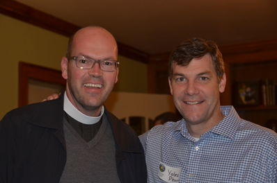 How blessed we were to see Brian Cole tonight, who took time out of his busy schedule as Rector of the Episcopal Church of the Good Shepherd in Lexington, KY.  Brian was previously the sub-dean of the Episcopal diocese of Western NC and one of the priests at The Cathedral of All Souls in Biltmore, NC where the Pharr family attends church.  Brian's son Jess was an FCC camper for years and Brian was an active part of assisting the FCC staff each summer. Great to see you Brian!