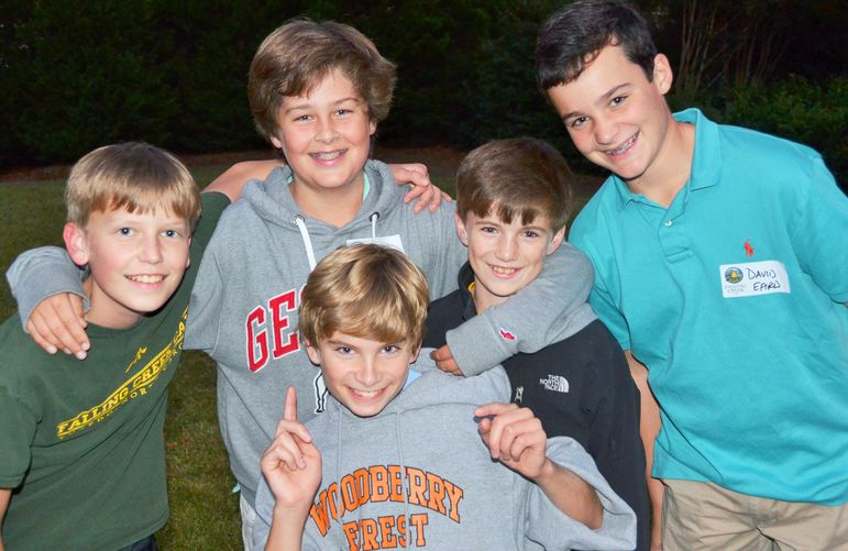 Camp friendships are strong and the boys enjoyed reuniting.