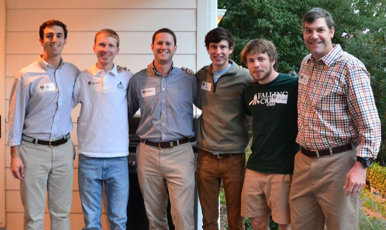 A large group of FCC staff came to the Greenville reunion tonight. (l to r - Mickey Herman, Nathan Newquist, Andrew Smith, Andrew Maddox, Devin Horgan, and Yates.