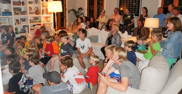It was a full house tonight and they all enjoyed watching the new camp movie.