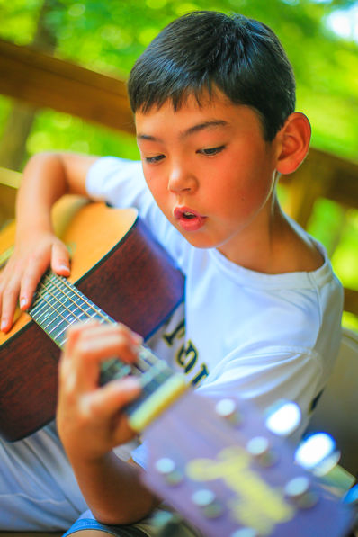 Falling Creek Camp Playing Guitar
