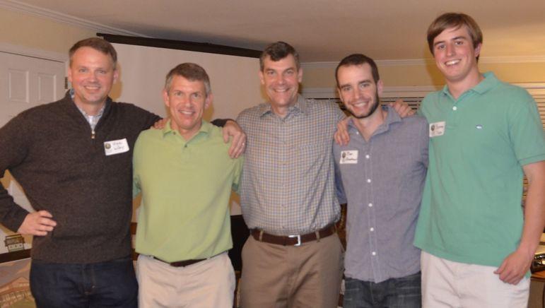 (L to R) Steve Wildey, Frank Jackson, Yates, Ben Broadhead, & Breaux Tubbs