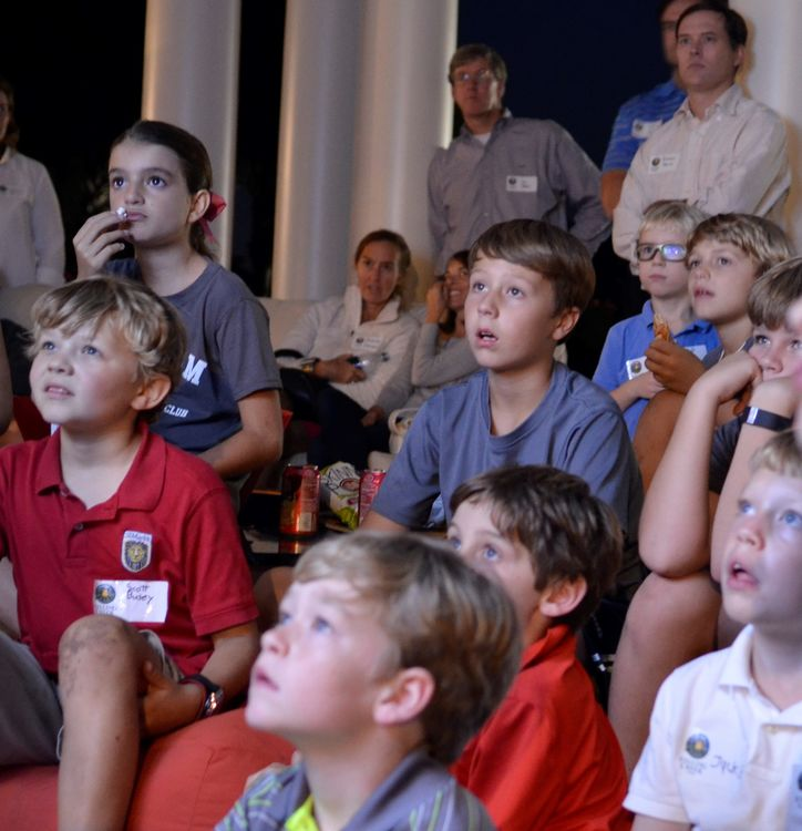 The boys and parents really enjoyed watching the new camp movie.