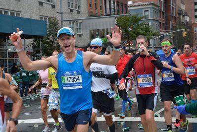 Frank running NYC Marathon