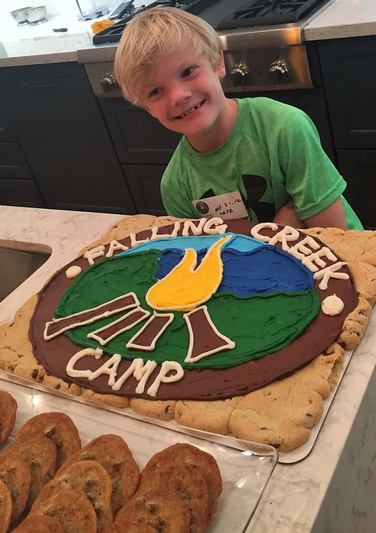 Yum! The boys loved the FCC chocolate chip cookie cake.