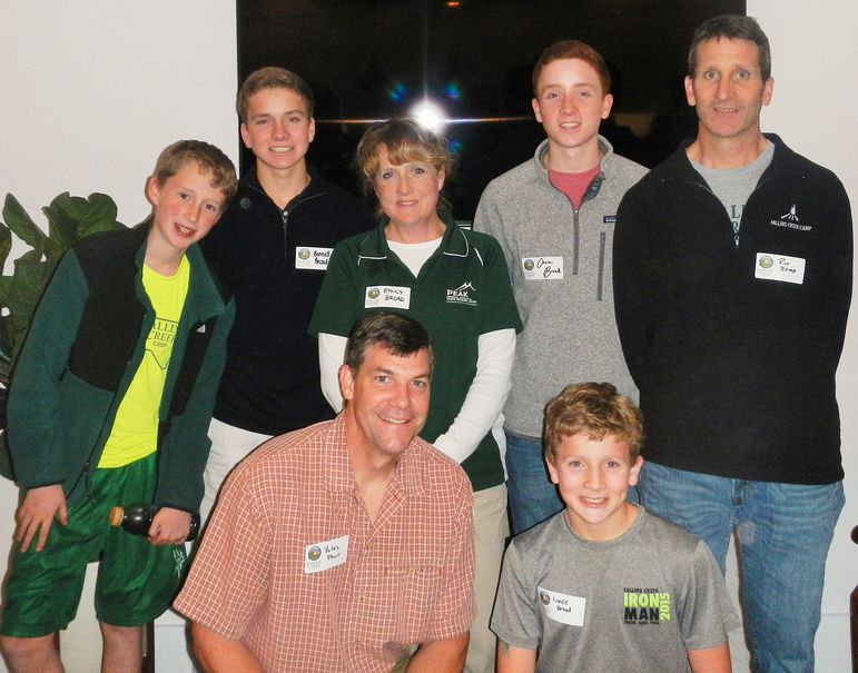 Emily and Rick Broad, who met at Falling Creek, were on staff in the 1980's and 90's. Rick was a Director for 4 years. Their three boys , Charles, Bennett, and Lance, have been campers at FCC from 5-8 years. The Broad's cousin, Whit Flickinger is also coming back to Falling Creek, and his older brother Cooper, who was an FCC camper for years, is a freshman at Mississippi State University. He will be a counselor at Falling Creek this summer. It was wonderful for Yates to reconnect with this outstanding family.
