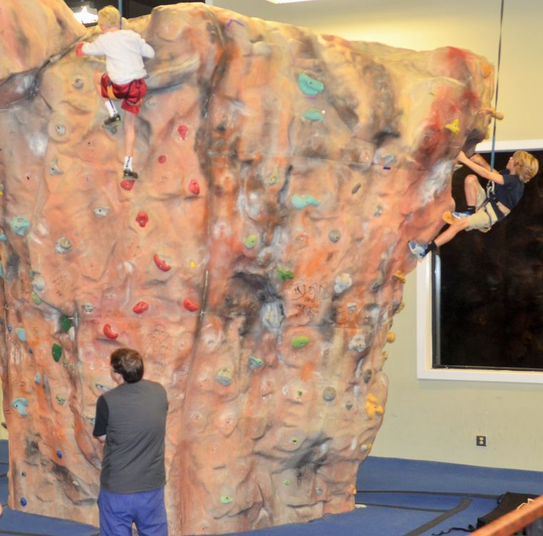 No question that the familes enjoyed the opportunity to climb on the rock walls in Half Moon Outfitters