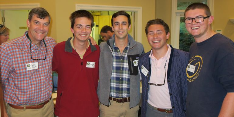 FCC activities are awesome, but the staff is what makes the camp experience the best.  (l to r) Yates, Andrew Josupait, Mickey Herman, Hayden Vick, and Dougie Burns. Andrew is a Junior at UNC-Charlotte, Mickey is in his 2nd year of law school at Wake Forest, Hayden is a Junior at UNC- Chapel Hill, and Dougie is a Sophomore at UNC- Greensboro.  Thnaks guys for taking time out of your busy schedule to come to the event!