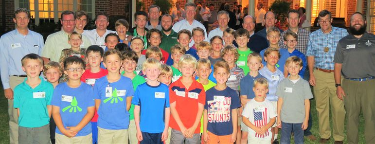 Dads who were Falling Creek Campers, and those who have come up for the weekend with their sons, joined the group of boys and staff who made up a large camp community tonight.
