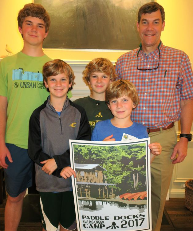 The four Hurst boys are veteran FCC campers and teamed with other returning campers tonight to share stories about camp.