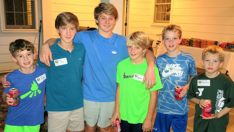 The three Gettys boys have enjoyed being Falling Creek Campers for years and they were wonderful hosts with their camp buddies and the boys who were learning about FCC for the first time tonight.