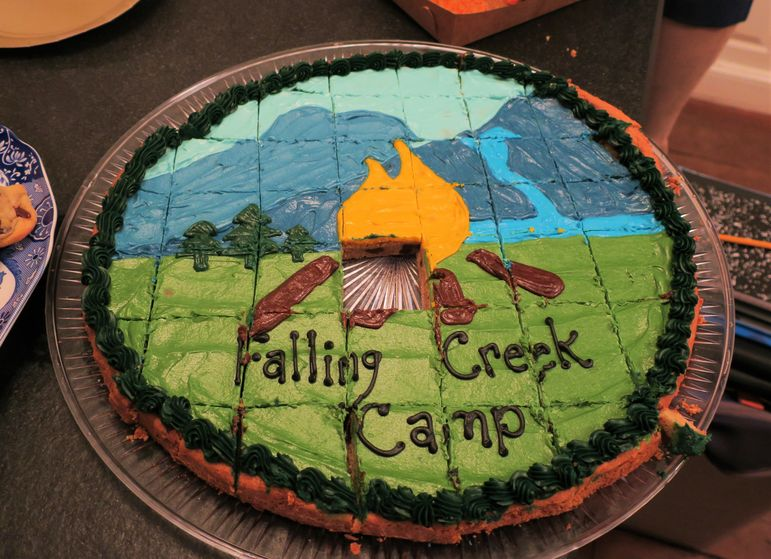 Wow!  Check out this Falling Creek Logo cookie cake.  It tasted as good as it looks.