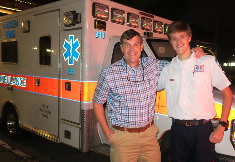 Yates had a chance to connect with Hayden Edwards, 9-year FCC camper, before the show as he couldn't come to the reunion tonight due to his duties with the Post 53 EMS crew.  Hayden, a Junior in high school, is an EMT and has been serving with this crew for a couple of years now. We are proud of you Hayden!