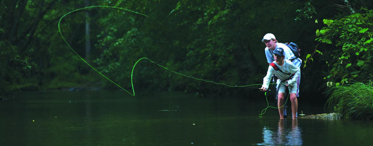 Fly-fishing-at-summer-camp