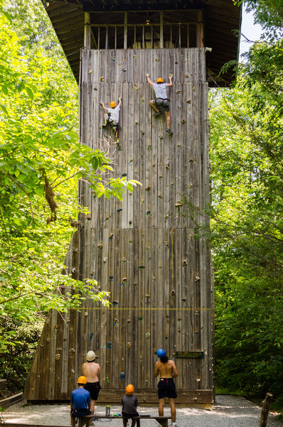 Climbing Wall tower at Falling Creek Camp.