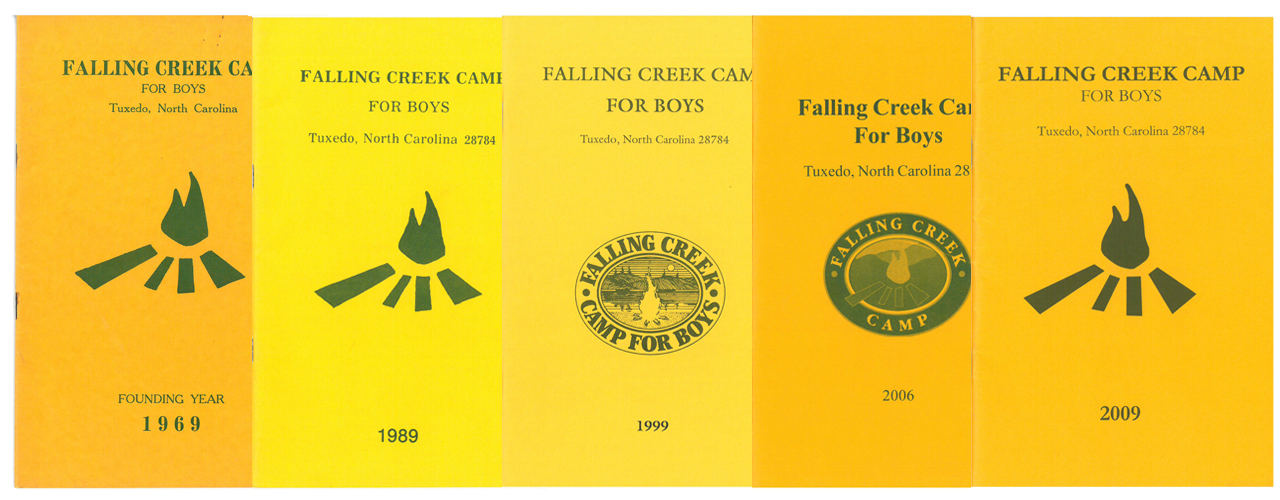 Collage of Falling Creek Camp's Green & Gold Book Covers