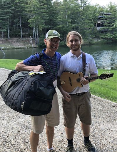 David Brown with son Joey Brown, both previous paddling counselors and campers