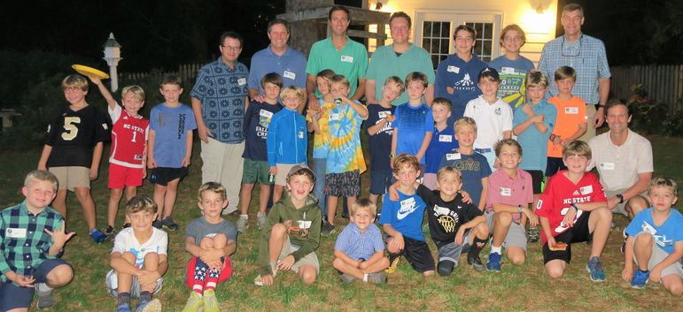 Raleigh show at the Funderburk's home -  all the boys in attendance, plus dads from Father/Son, alumni, and staff