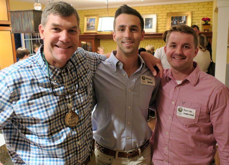 Yates with Mickey Herman and Patrick Greenwood in Alexandria, VA
